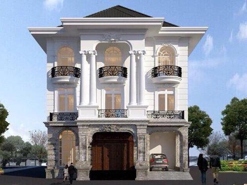 Tuyển chọn các mẫu biệt thự 3 tầng tân cổ điển đẹp hút hồn