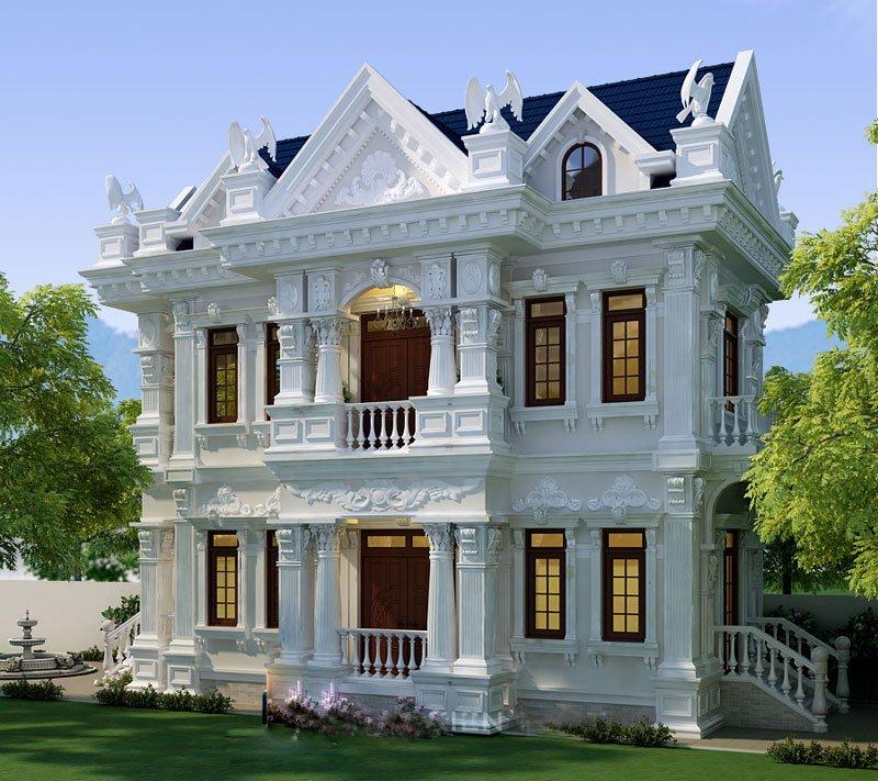 mẫu biệt thự cổ điển đẹp