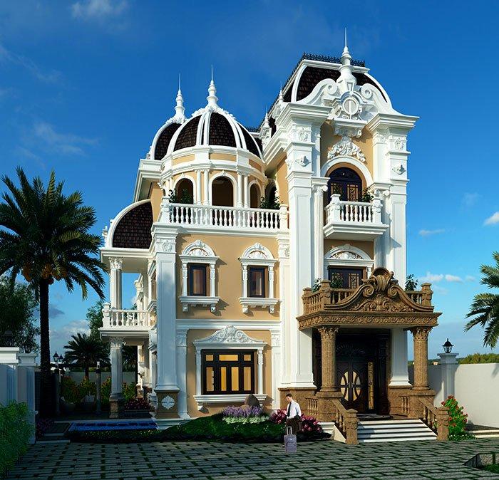 Tuyển chọn các mẫu thiết kế biệt thự cổ điển kiểu pháp đẹp đẳng cấp