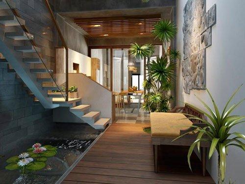 Xiêu lòng mẫu nhà phố hiện đại kết nối hoàn hảo với thiên nhiên