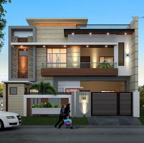 bản thiết kế nhà 2 tầng đẹp hiện đại sang trọng 2