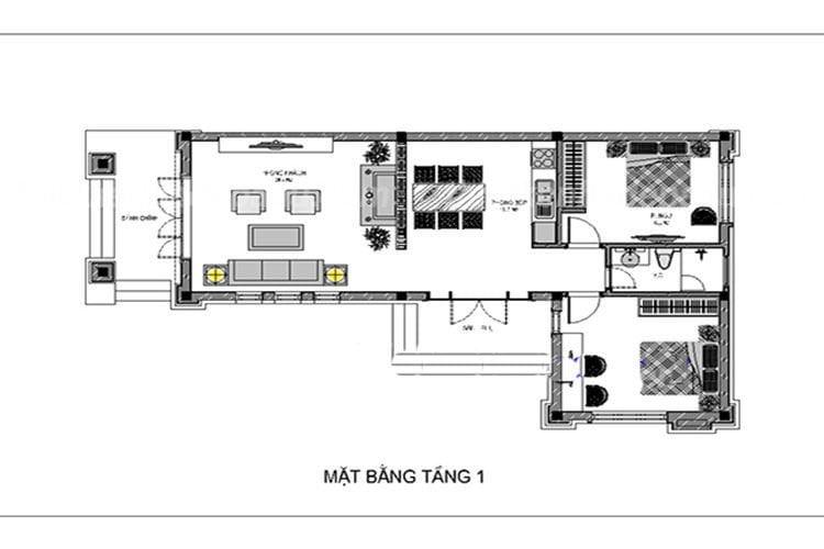 bản vẽ cad nhà cấp 4 mái thái 10