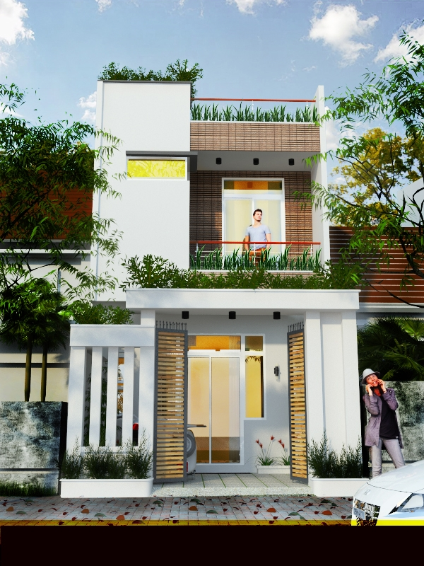 bản vẽ kết cấu nhà phố 2 tầng 1