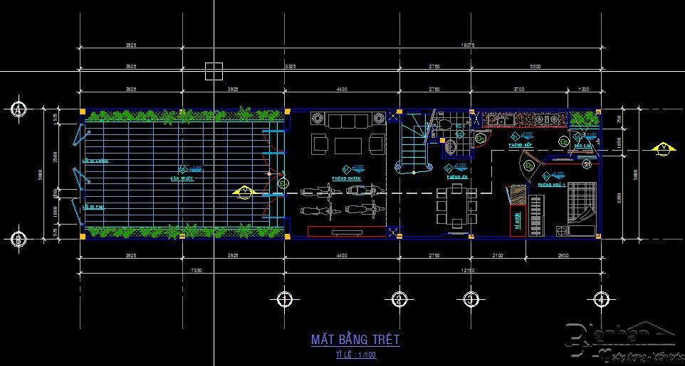 bản vẽ kết cấu nhà phố 2 tầng 21
