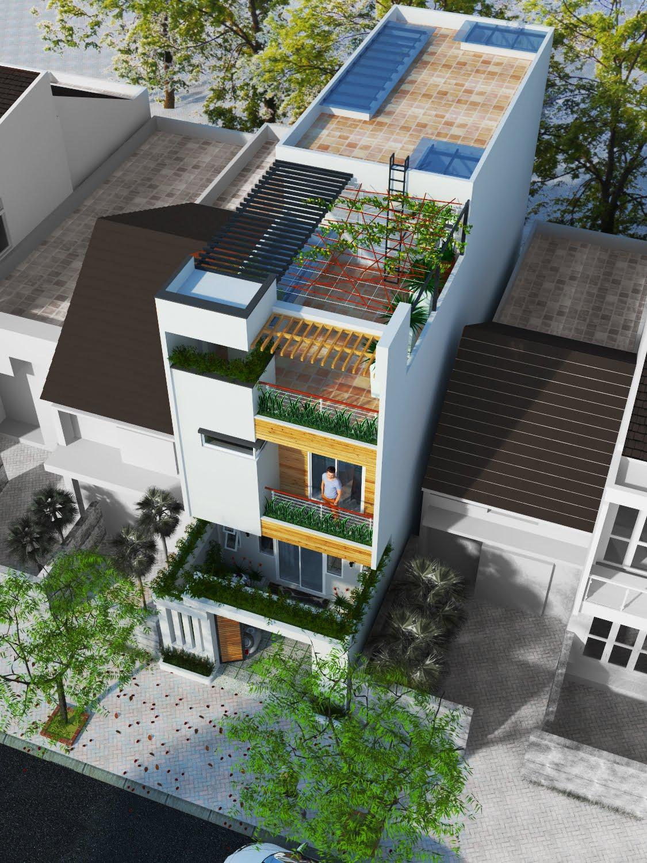 bản vẽ kết cấu nhà phố 2 tầng 5