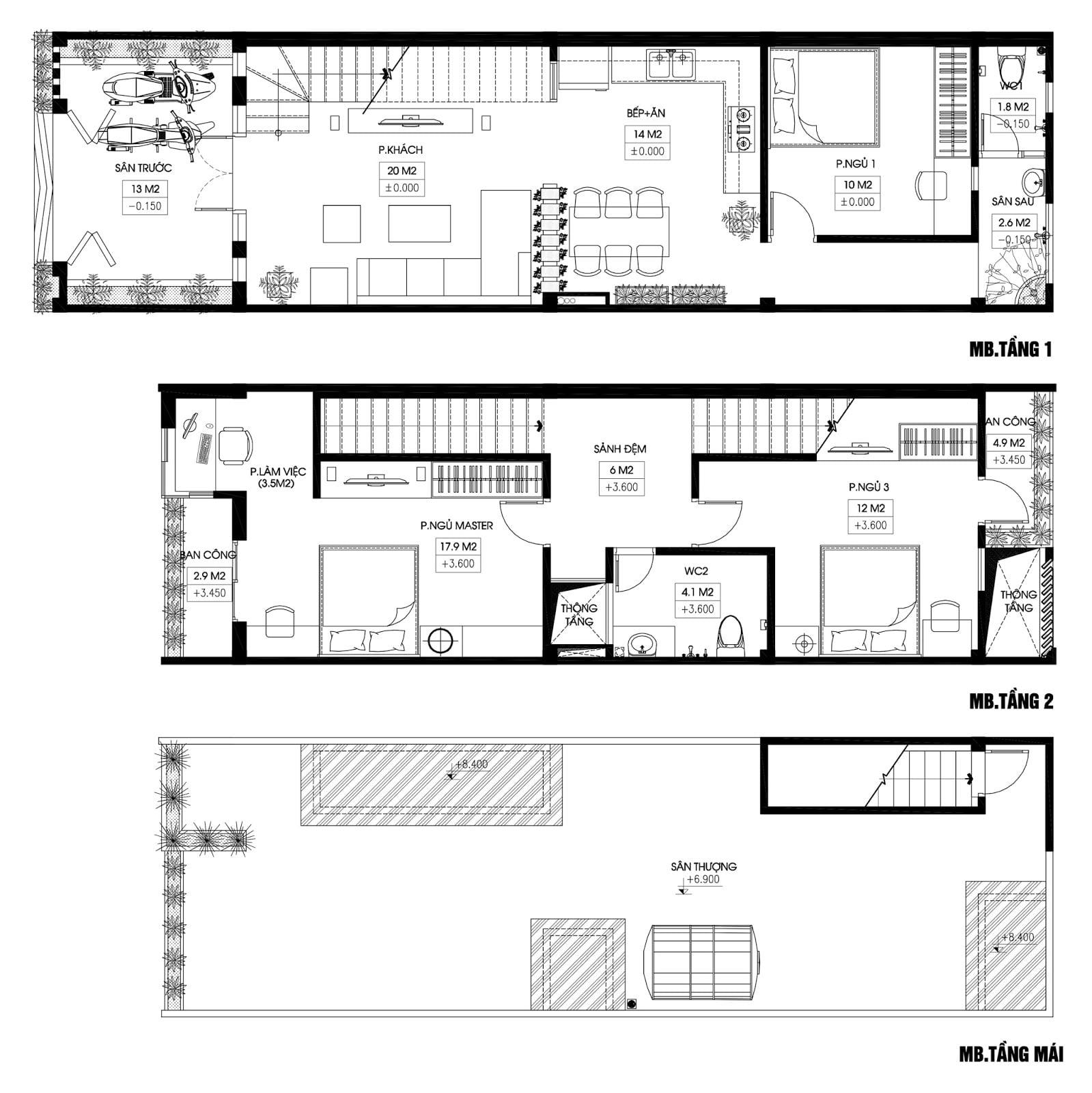 bản vẽ kết cấu nhà phố 2 tầng 7