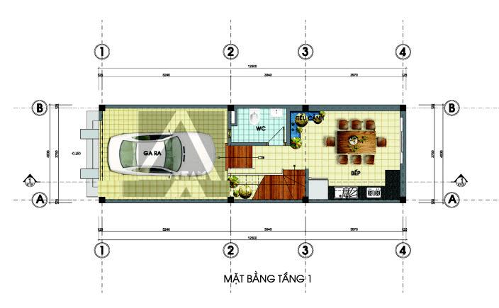 mẫu nhà lệch tầng 4x12m 5
