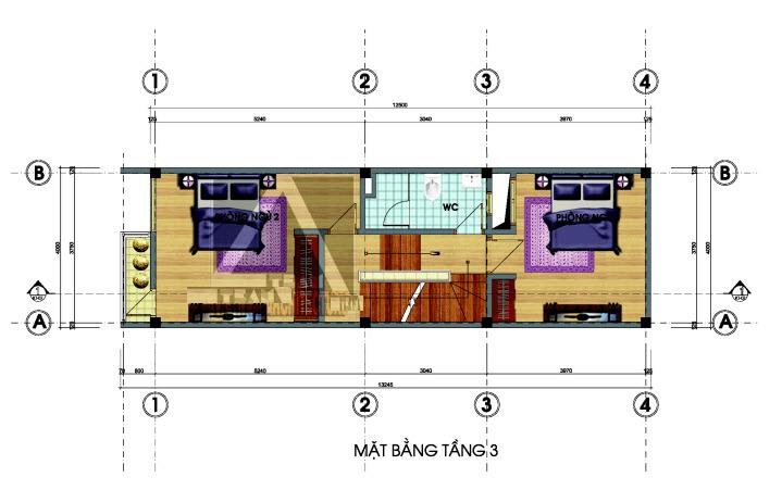 mẫu nhà lệch tầng 4x12m 7