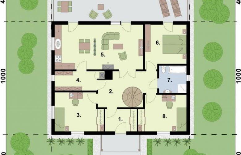 bản vẽ nhà cấp 4 3 phòng ngủ 2