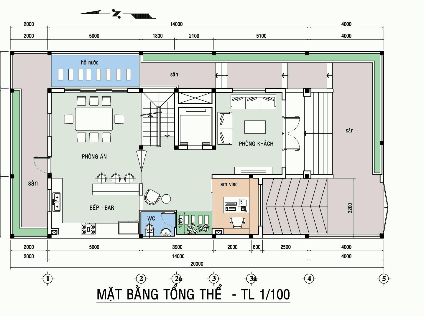 bản vẽ nhà mặt tiền 7m 4
