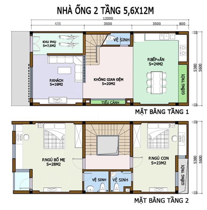 bản vẽ thiết kế nhà 2 tầng hoàn chỉnh 10