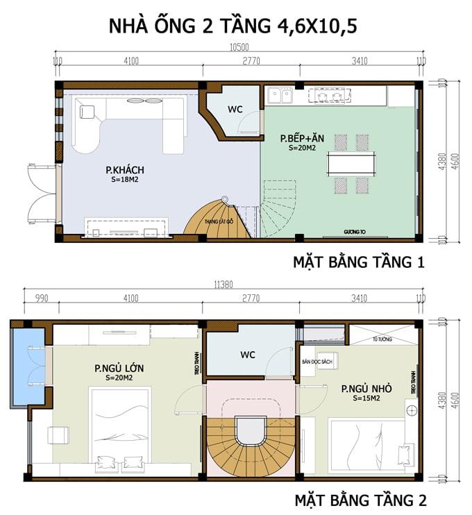 bản vẽ thiết kế nhà 2 tầng hoàn chỉnh 14