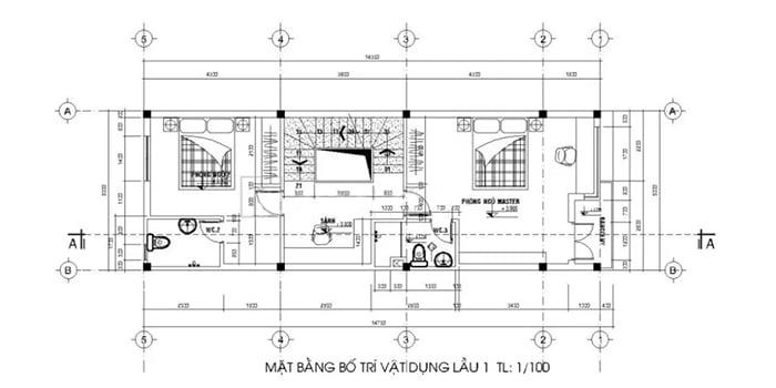 bản vẽ thiết kế nhà 2 tầng hoàn chỉnh 16