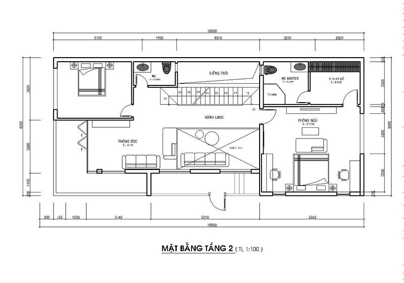 bản vẽ thiết kế nhà 2 tầng hoàn chỉnh 19