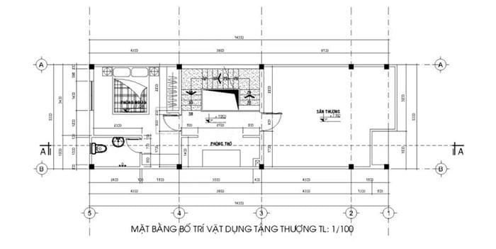 bản vẽ thiết kế nhà 2 tầng