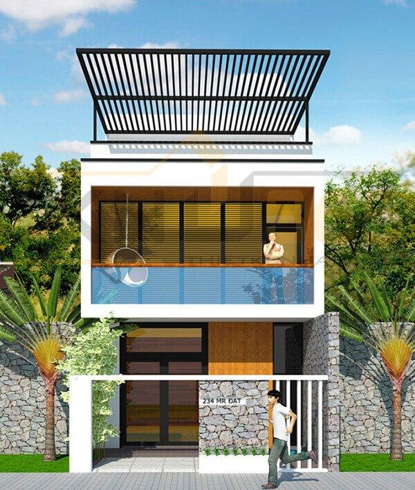 bản vẽ thiết kế nhà 2 tầng hoàn chỉnh 7