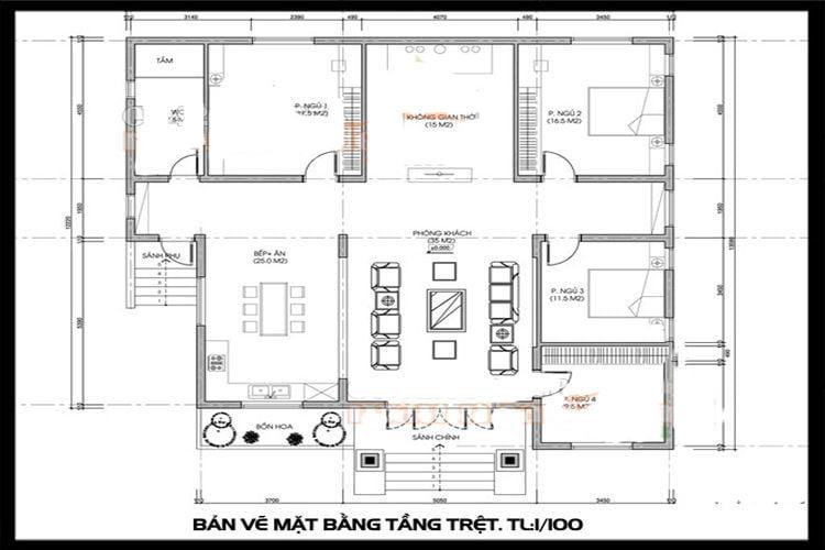bản vẽ thiết kế nhà cấp 4 24