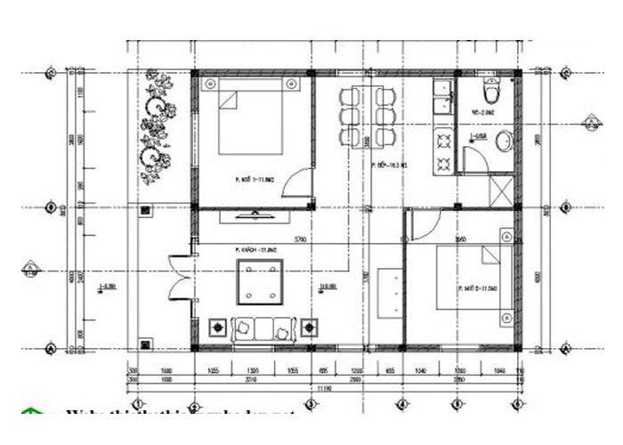 bản vẽ thiết kế nhà cấp 4 6