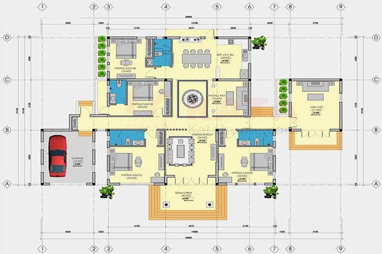 bản vẽ thiết kế nhà cấp 4 9