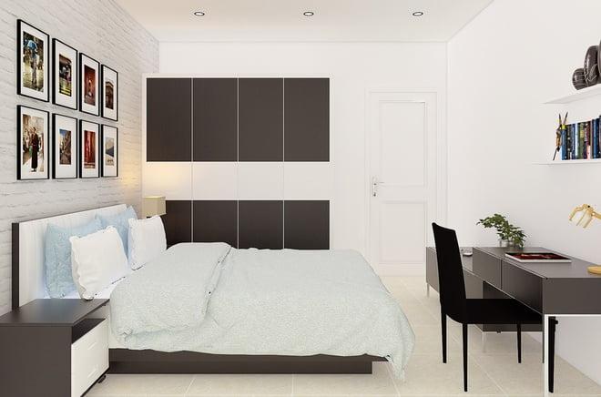 phòng ngủ thiết kế xây dựng nhà 2 tầng