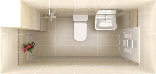 phòng tắm thiết kế xây dựng nhà 2 tầng