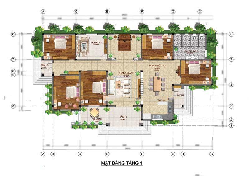 biệt thự 1 tầng phong cách châu âu 14