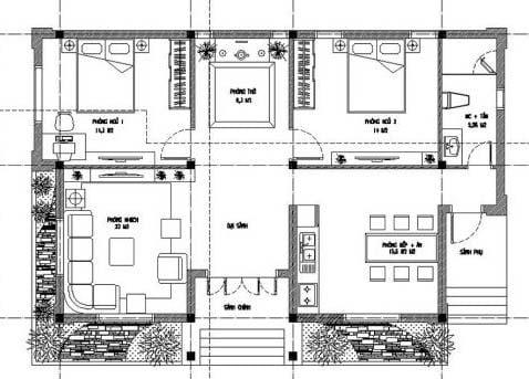 biệt thự 1 tầng phong cách châu âu 16
