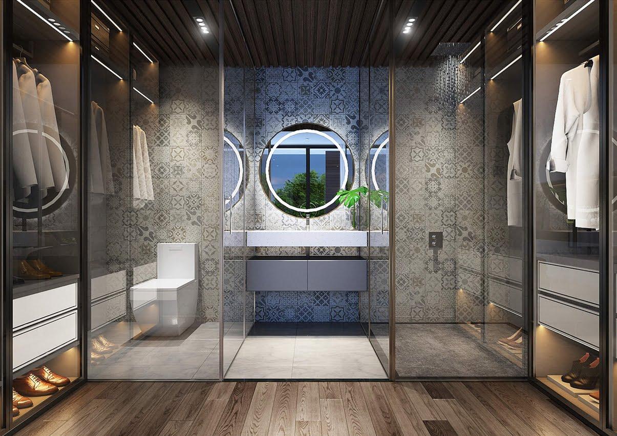 biệt thự 10x20m phòng tắm