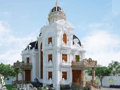biệt thự 13 tỷ 3 tầng phong cách cổ điển