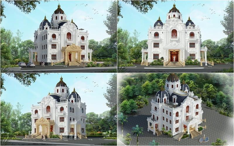 biệt thự lâu đài 4 tầng 18 tỷ 1