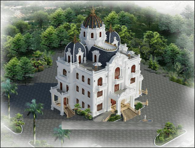 biệt thự lâu đài 4 tầng 18 tỷ 3