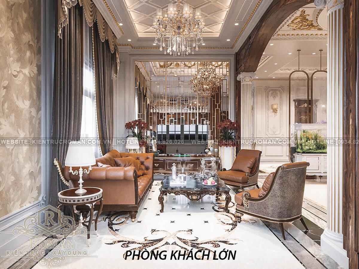 biệt thự 2 mặt tiền đẹp phòng khách lớn
