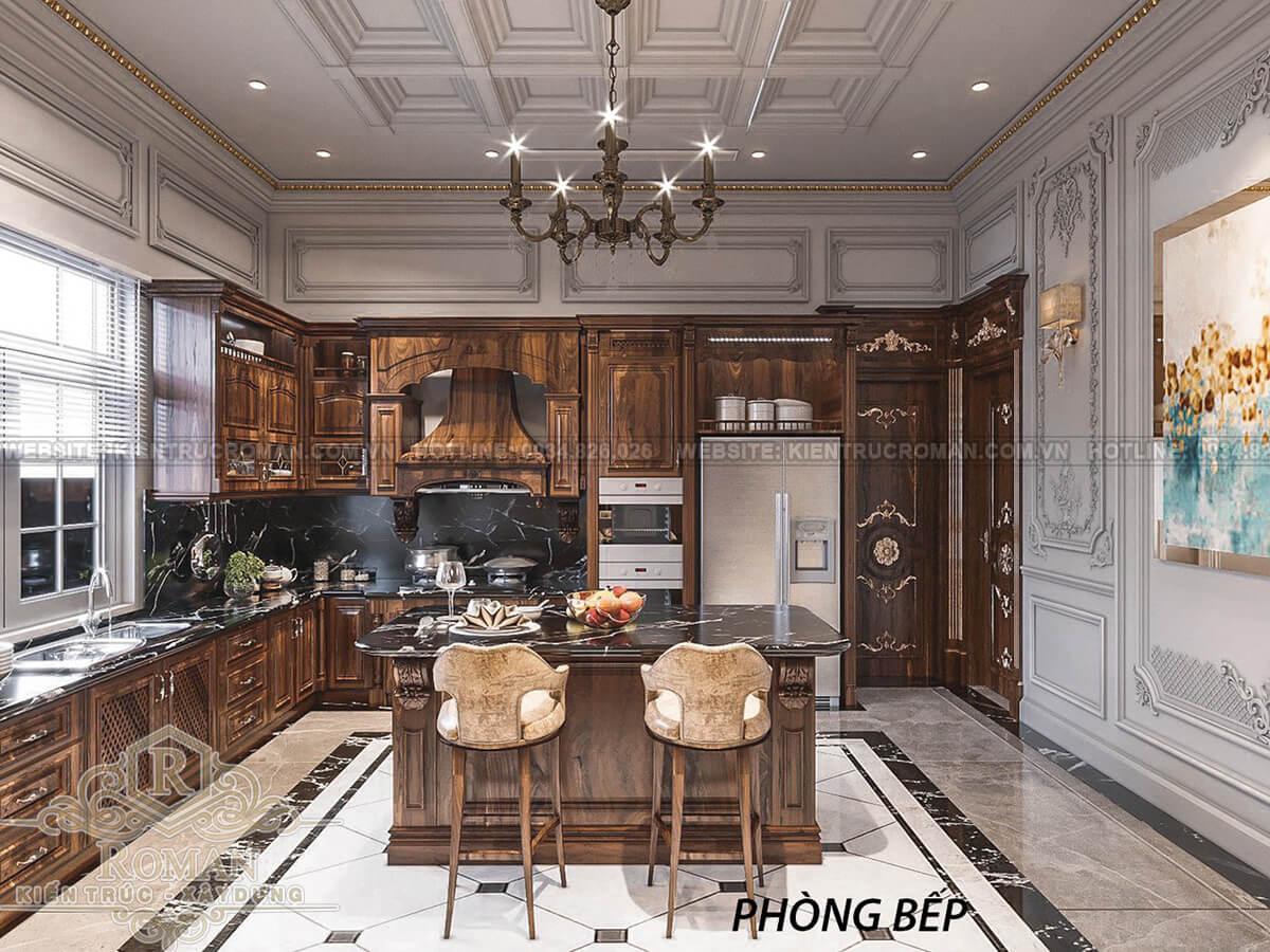 biệt thự 2 mặt tiền đẹp phòng bếp