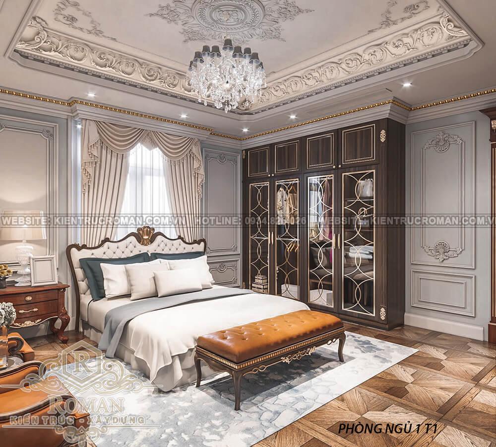 biệt thự 2 mặt tiền đẹp phòng ngủ