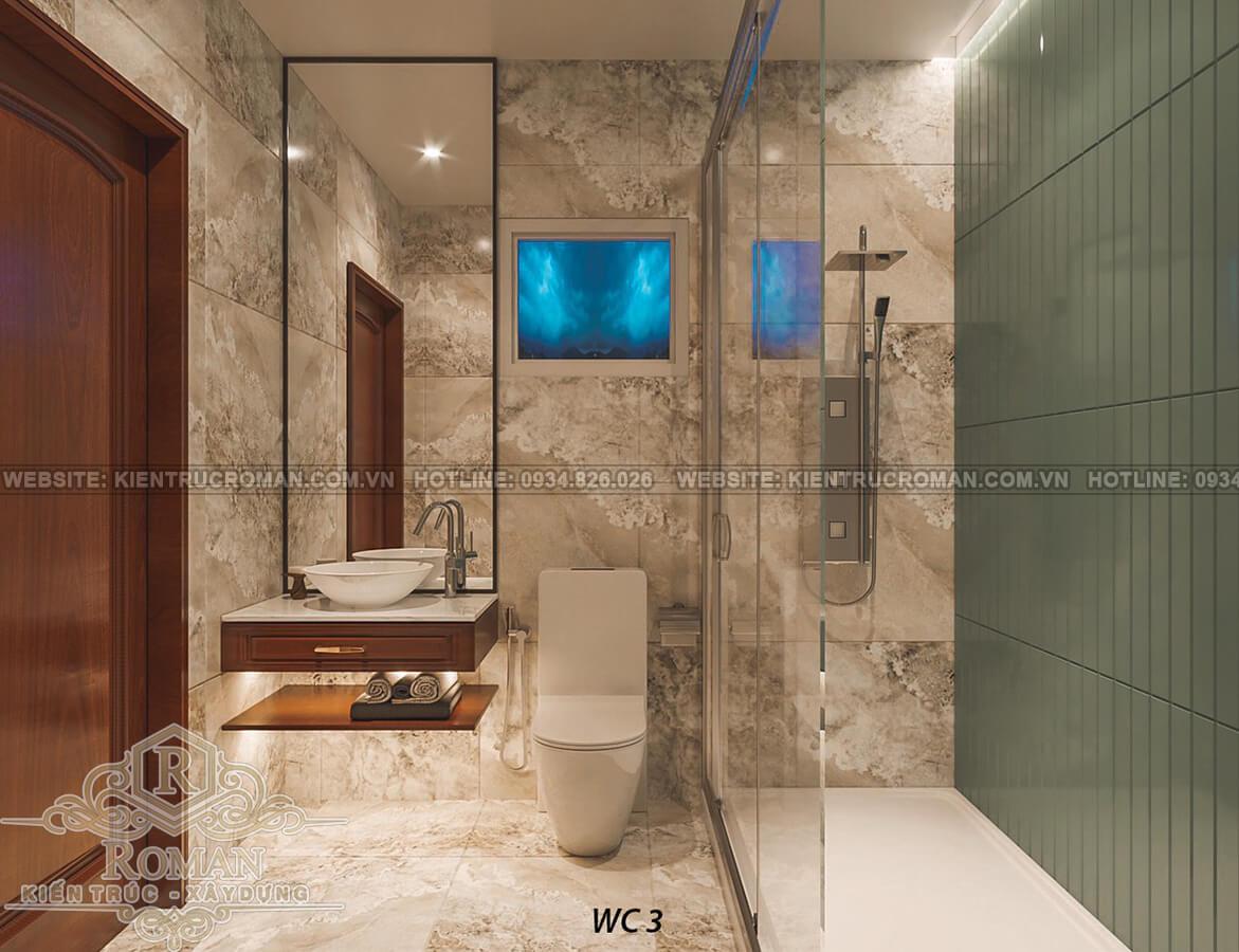 biệt thự 2 mặt tiền đẹp phòng tắm