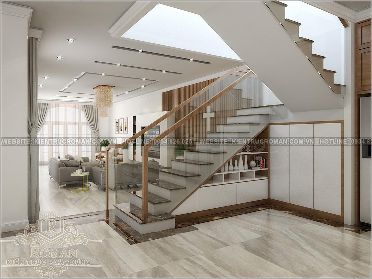 biệt thự 2 tầng 1 tum phòng khách