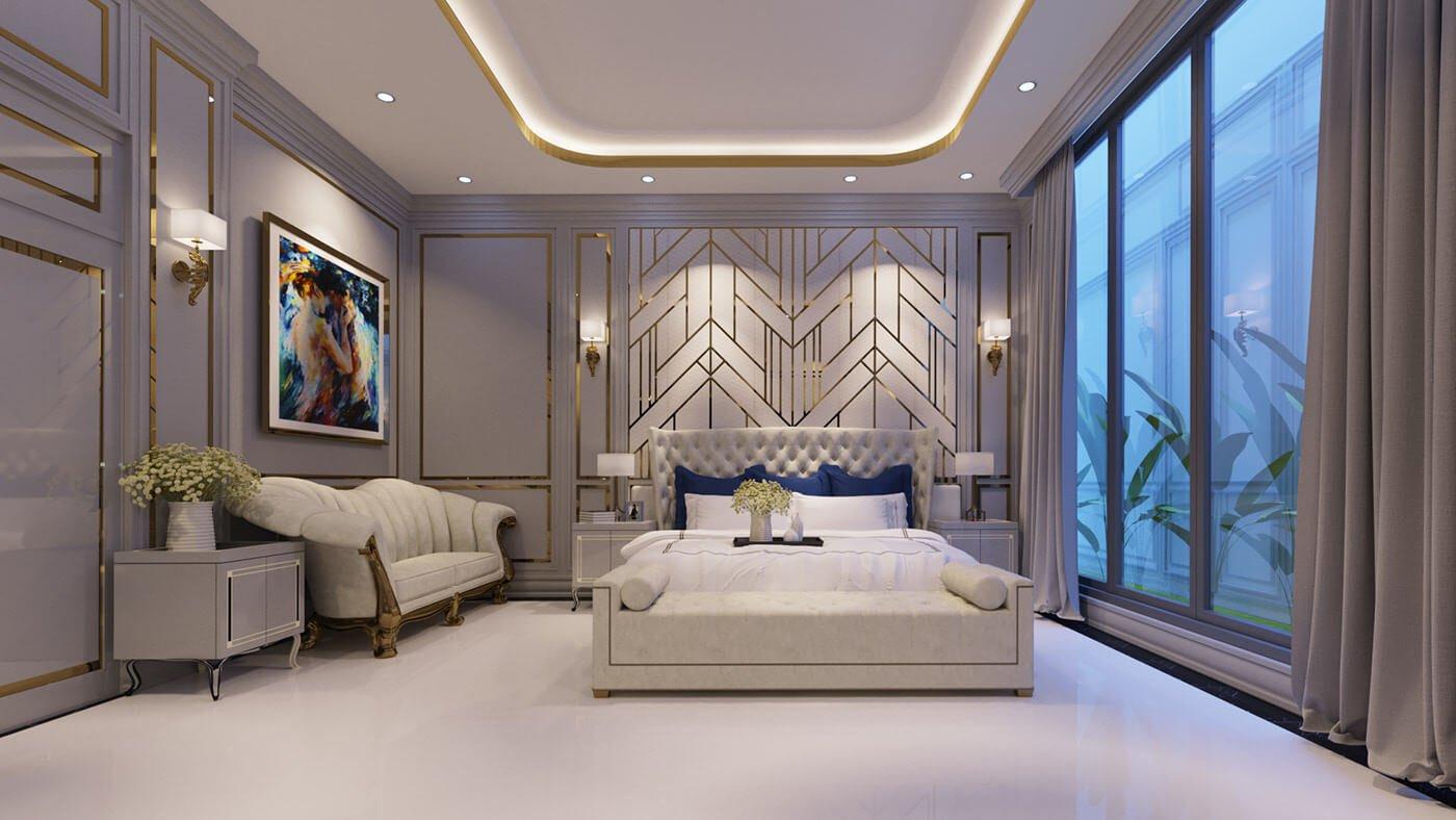 biệt thự 2 tầng 1 tum 120m2 giường ngủ