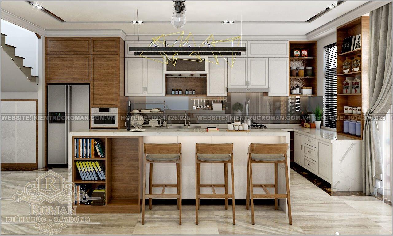 biệt thự 2 tầng 1 tum nhà bếp