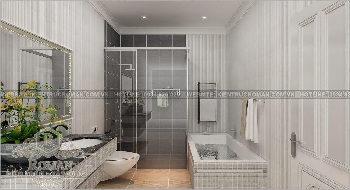 biệt thự 2 tầng 1 tum phòng tắm