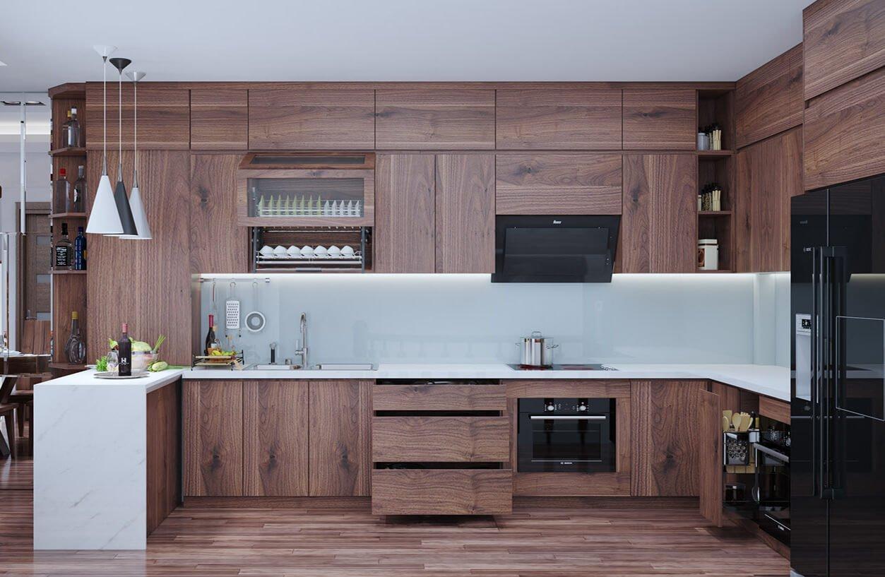biệt thự 2 tầng 205m2 phòng bếp