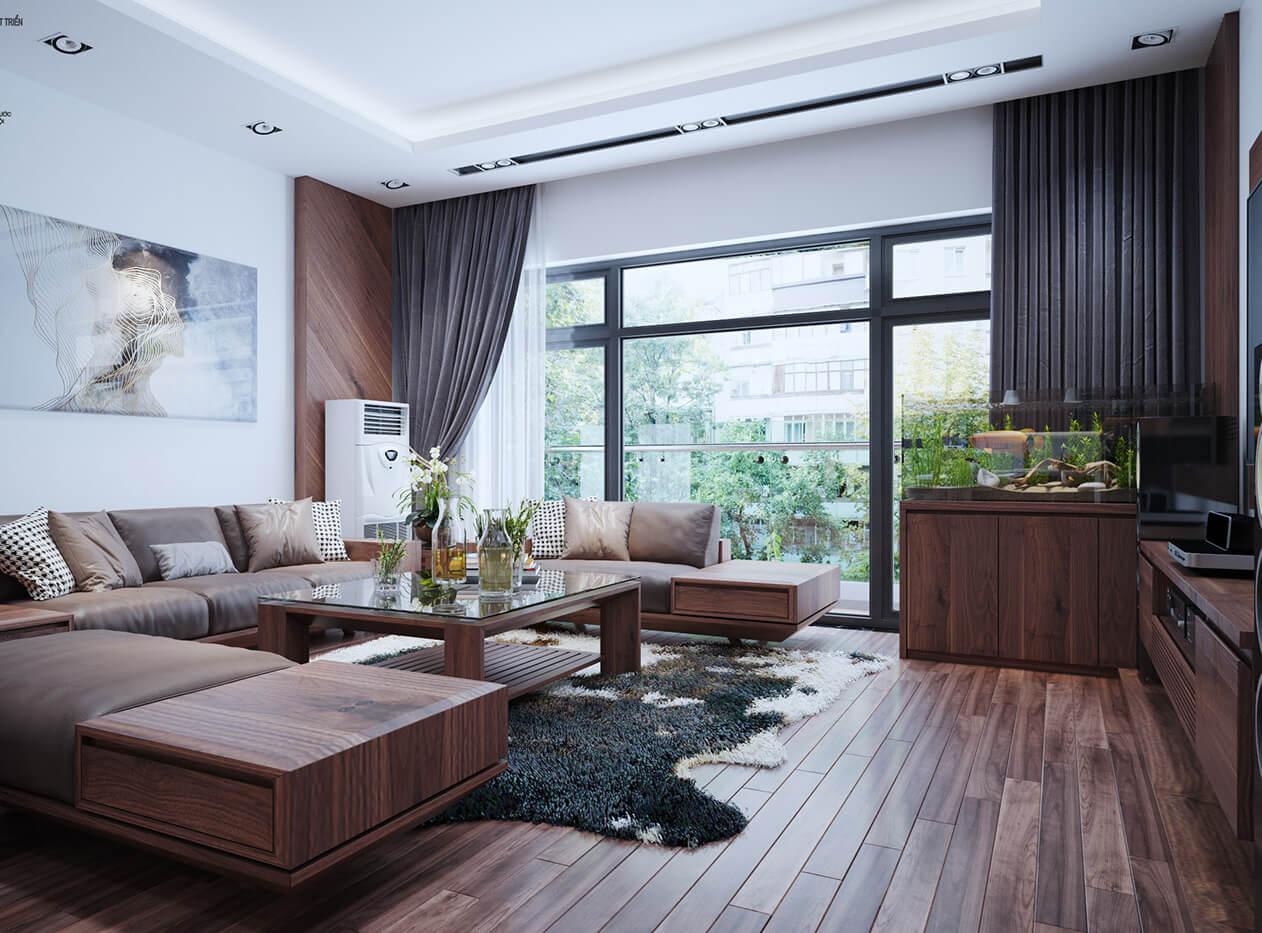 biệt thự 2 tầng 205m2 phòng sinh hoạt chung