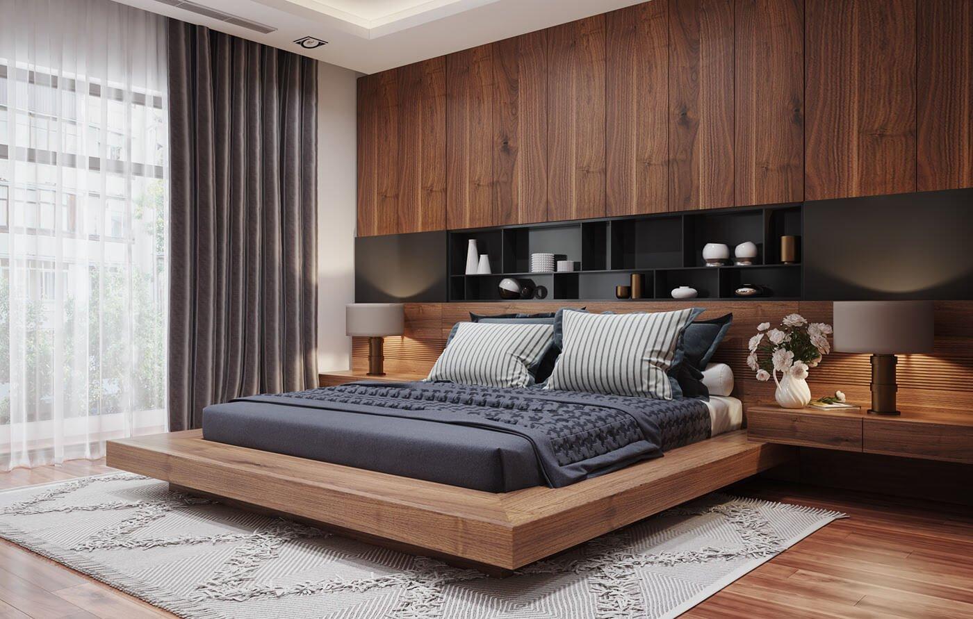 biệt thự 2 tầng 205m2 phòng ngủ