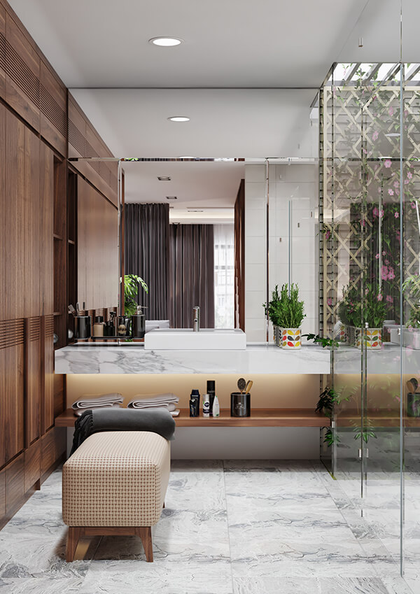 biệt thự 2 tầng 205m2 bàn trang điểm