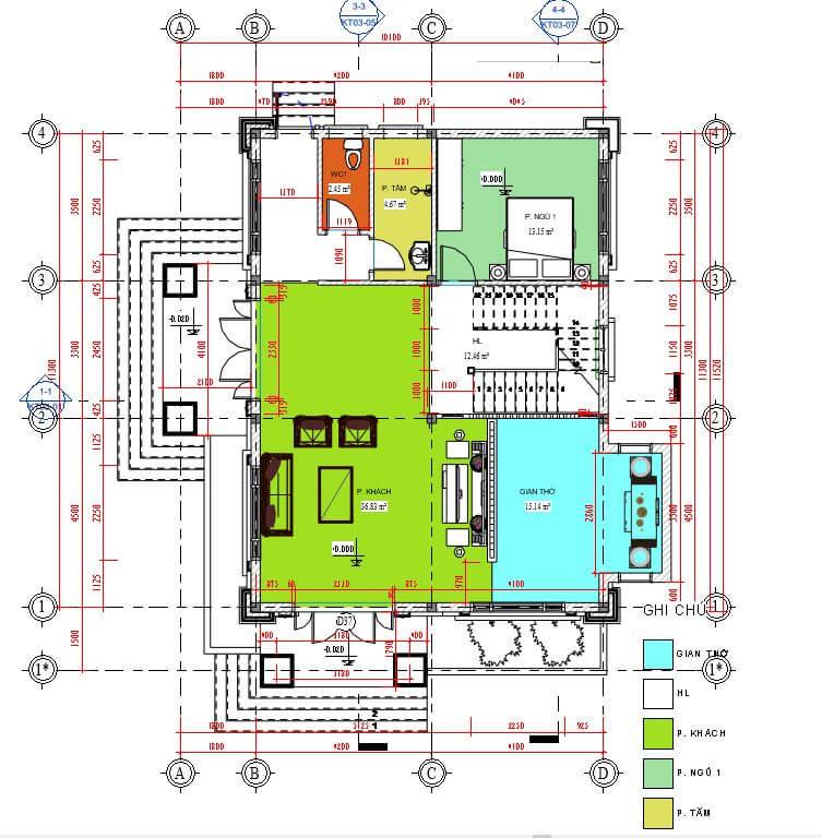 biệt thự 2 tầng 205m2
