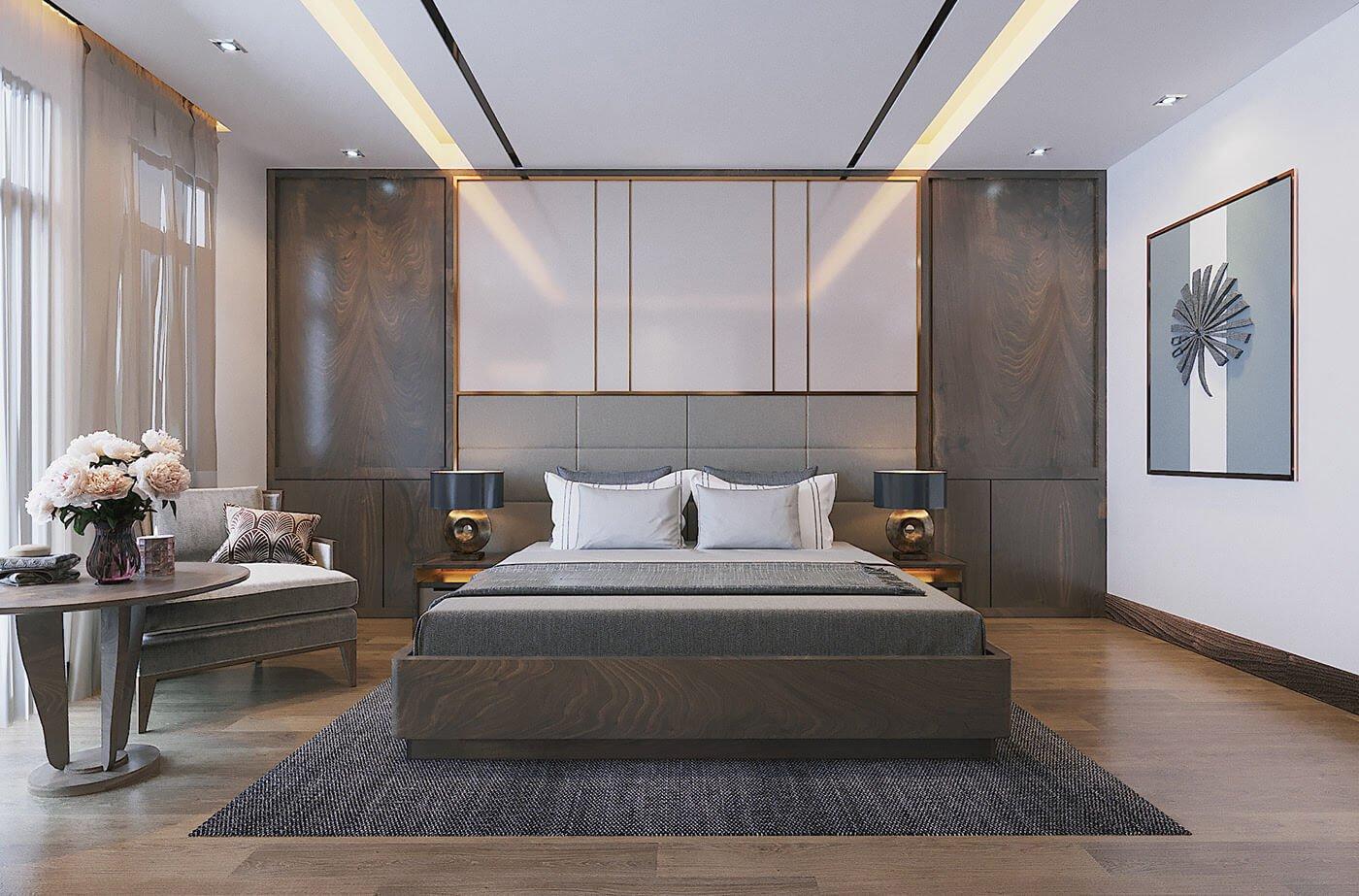 biệt thự 2 tầng 9x14m phòng ngủ