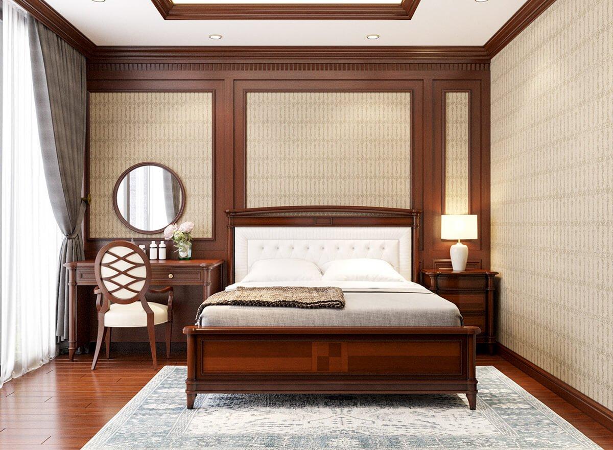 biệt thự 2 tầng bán cổ điển phòng ngủ