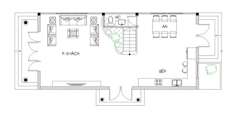 biệt thự 2 tầng bán cổ điển