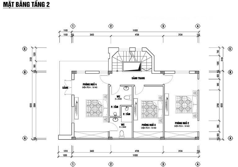 biệt thự 2 tầng chữ I