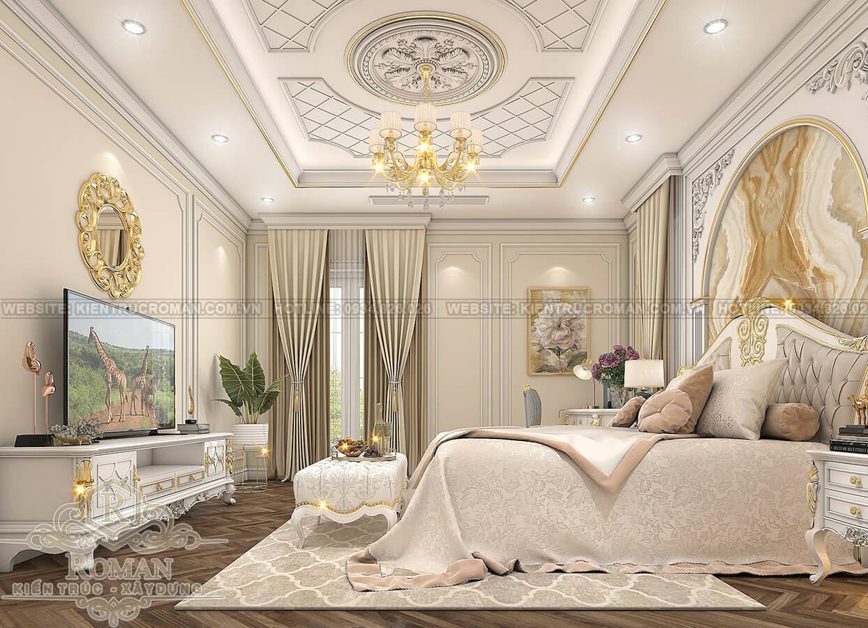 biệt thự 2 tầng có sân thượng phòng ngủ master