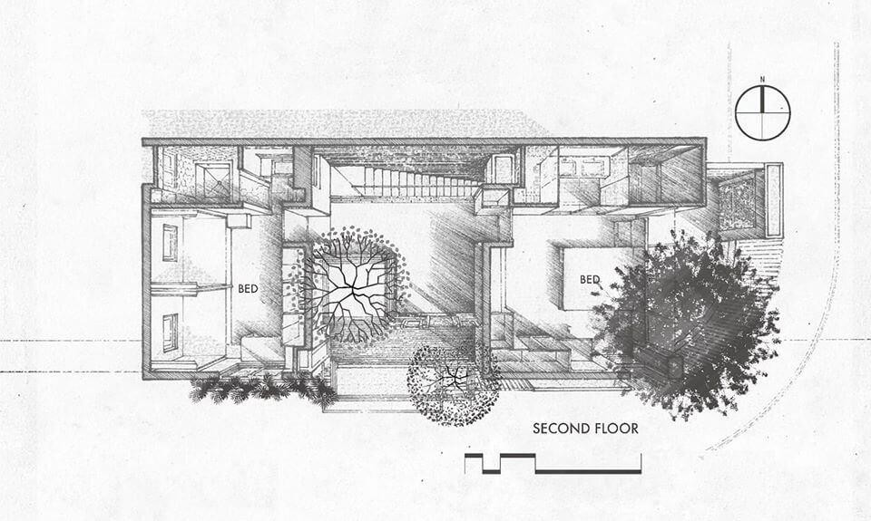 biệt thự 2 tầng không gian mở